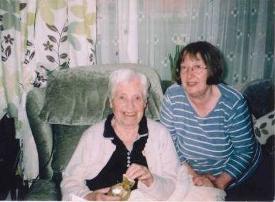 A picture of Marion and her elderly mother